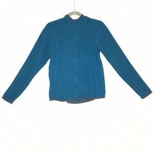 Eddie Bauer Turquoise Blue Poly Pro Hooded Sweater